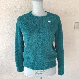 Abercrombie Kids Green Sherpa Sweater size 11/12